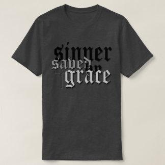 sinner saved by grace drk t var heather t shirt
