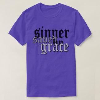 sinner saved by grace drk t var purple t shirt