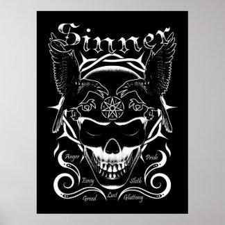 Sinner Skull Poster