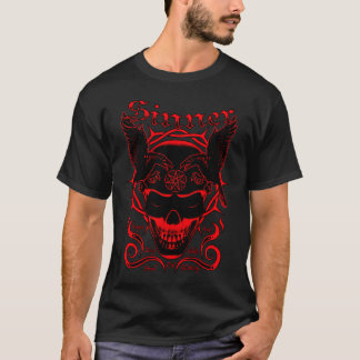 Sinner Skull (Red) T-Shirt
