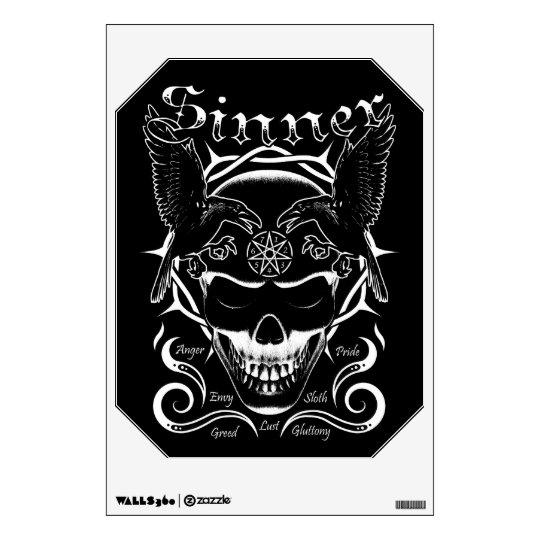 Sinner Skull Wall Decal