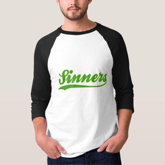 Sinners Faux Baseball Jersey T-Shirt