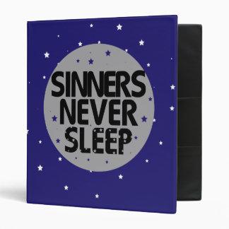 Sinners Never Sleep 3 Ring Binder