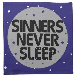 Sinners Never Sleep Cloth Napkin