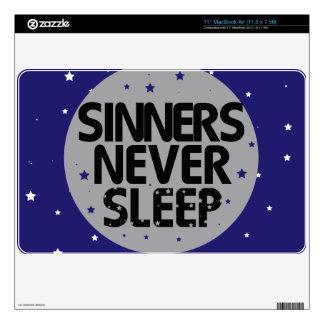 Sinners Never Sleep Decals For MacBook