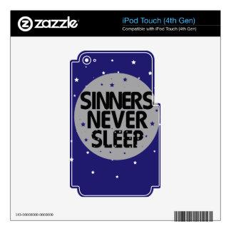 Sinners Never Sleep iPod Touch 4G Decal