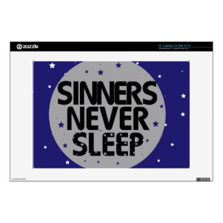 Sinners Never Sleep Laptop Skins