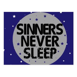 Sinners Never Sleep Postcard