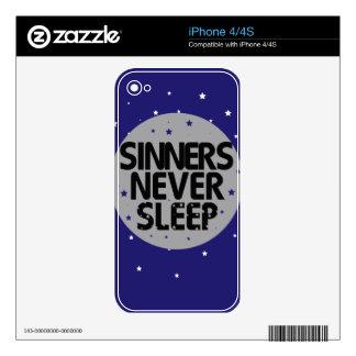 Sinners Never Sleep Skin For The iPhone 4S