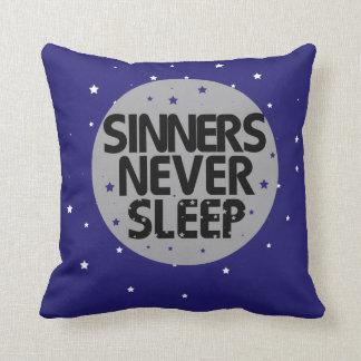 Sinners Never Sleep Throw Pillow