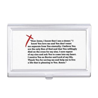 Sinners Prayer Business Card Case