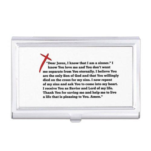 Sinners Prayer Business Card Case
