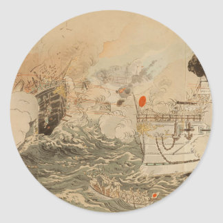 Sino-Japanese War: The Japanese Navy Victorious Classic Round Sticker