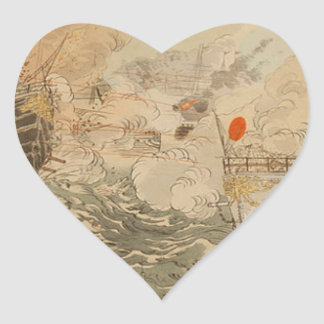 Sino-Japanese War: The Japanese Navy Victorious Heart Sticker