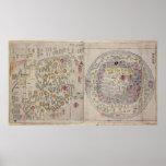 Sino Korean world map Print
