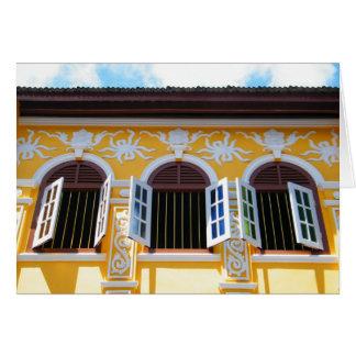 Sino Portuguese Shophouse, Phuket Town Greeting Card