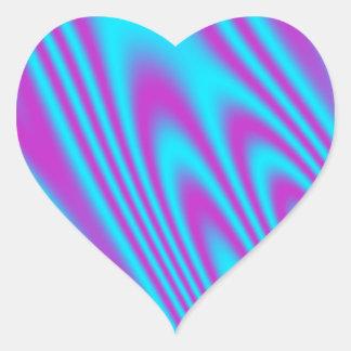 Sino púrpura de la aguamarina pegatina en forma de corazón