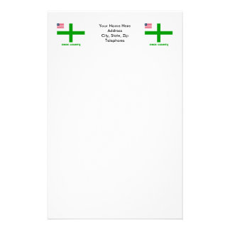 Sinoe County Flag with Name Customized Stationery