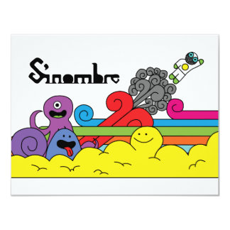 "Sinombre characters 4.25"" x 5.5"" invitation card"