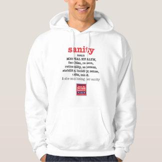 Sinónimos de la cordura 2 lados suéter con capucha