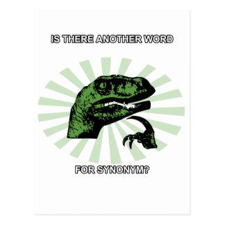 Sinónimos de Philosoraptor Tarjeta Postal