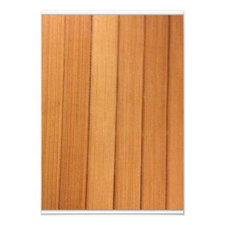 sinple verticle wood 3.5x5 paper invitation card