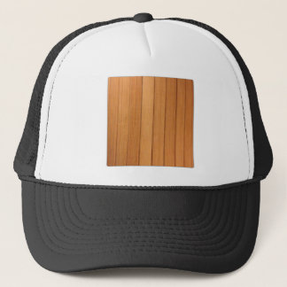 sinple verticle wood trucker hat