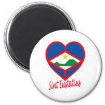 Sint Eustatius Flag Heart Magnet