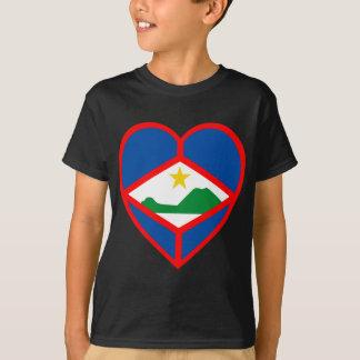 Sint Eustatius Flag Heart T-Shirt