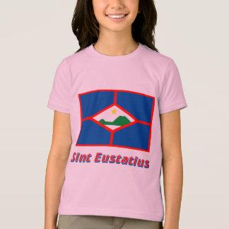 Sint Eustatius Flag with Name T-Shirt