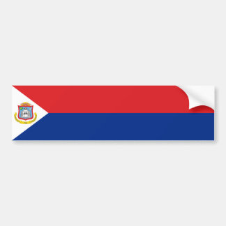 Sint Maarten, bandera de San Martín, holandés/País Pegatina Para Auto