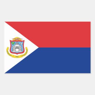 Sint Maarten, bandera de San Martín, Pegatina Rectangular