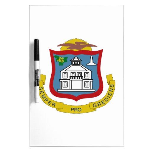 Sint Maarten Coat of Arms Dry-Erase Board