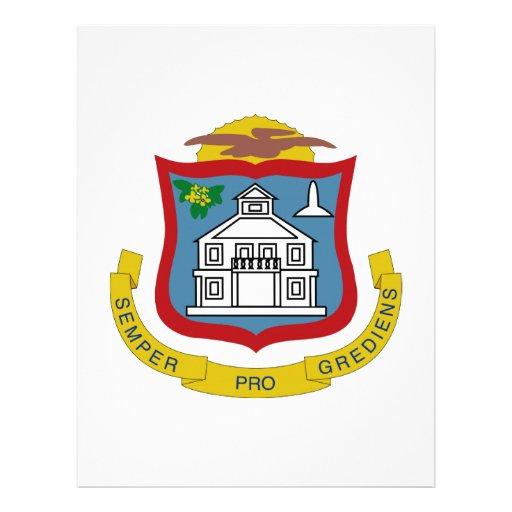 Sint Maarten Coat of Arms Custom Letterhead