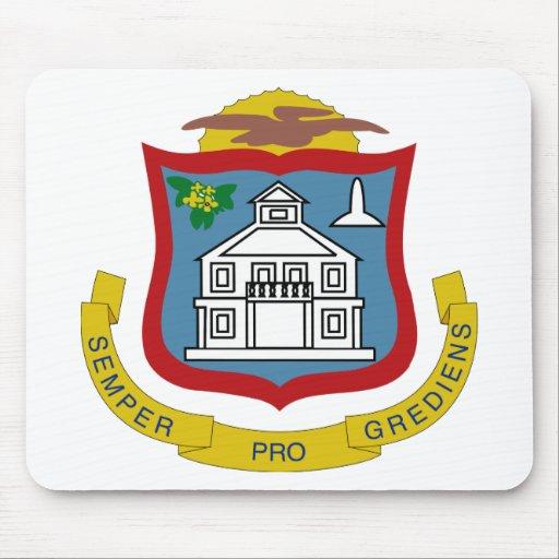 Sint Maarten Coat of Arms Mouse Pads