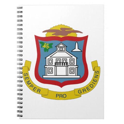 Sint Maarten Coat of Arms Spiral Note Books