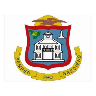 Sint Maarten Coat of Arms Postcard
