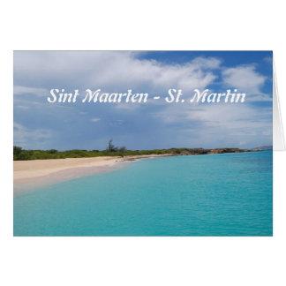 Sint Maarten - escena de la playa de San Martín Tarjeta De Felicitación
