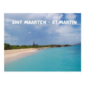 Sint Maarten - escena de la playa de San Martín Tarjeta Postal