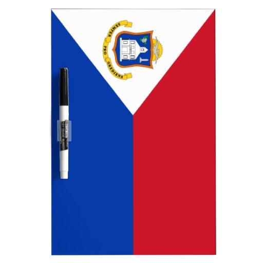 Sint Maarten Flag Dry-Erase Whiteboard