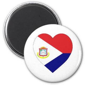 Sint Maarten Flag Heart Magnet