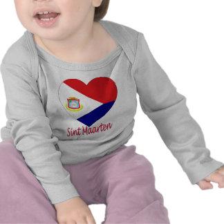 Sint Maarten Flag Heart Tshirt