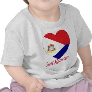 Sint Maarten Flag Heart T-shirts