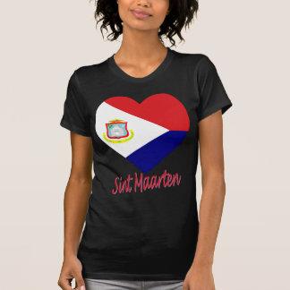 Sint Maarten Flag Heart T-shirt
