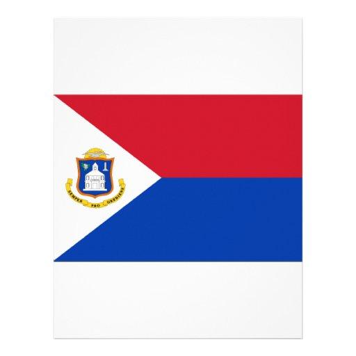 Sint Maarten Flag Letterhead Template