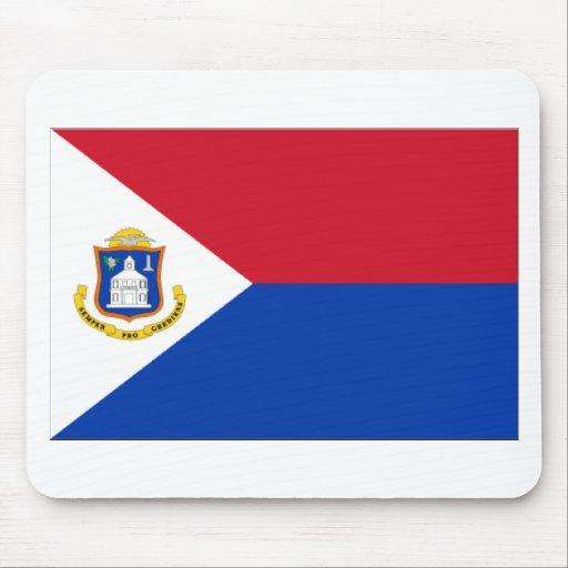 Sint Maarten Flag Mouse Pads