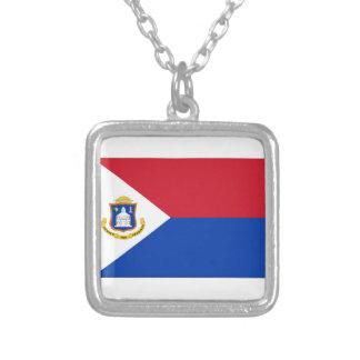 Sint Maarten Flag Personalized Necklace
