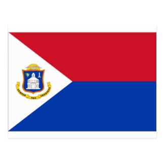 Sint Maarten Flag Postcard