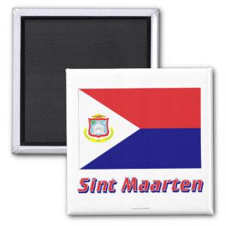 Sint Maarten Flag with Name Magnet