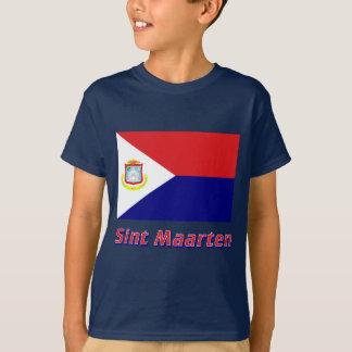 Sint Maarten Flag with Name T-Shirt